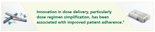 Text stating that V-Go is an innovative insulin delivery device