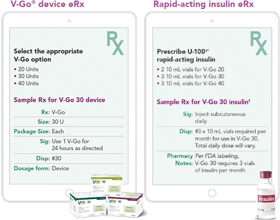 VGO Insulin and device information